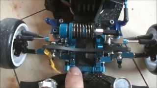 getlinkyoutube.com-2駆 ラジドリ 2WD 1号機 モノサス(リンクサス) プルプル対策   rwd drift rc SETTING