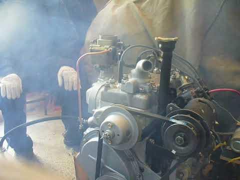 Первый запуск двигателя ГАЗ-21Б (газ-69)