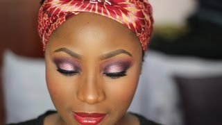 getlinkyoutube.com-ANKARA INSPIRED MAKEUP TUTORIAL : #1
