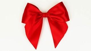 getlinkyoutube.com-How to make a bow I Easy ribbon bow tutorial I Diy