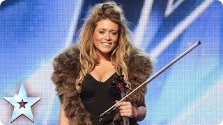getlinkyoutube.com-Posh violinist Lettice Rowbotham gives the Judges something new | Britain's Got Talent 2014