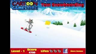 getlinkyoutube.com-Jocuri cu Tom si Jerry cand pisica Tom face snowboarding