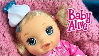 Baby Alive Baby Go Bye Bye Doll Sick with Doc McStuffins Diaper Bag