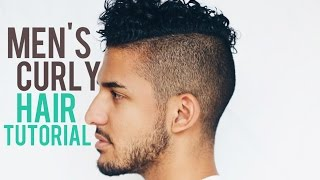 getlinkyoutube.com-Men's Curly Hair Tutorial + Products (Mixed Chicks, Redken Curvaceous, Göt2B Glued)
