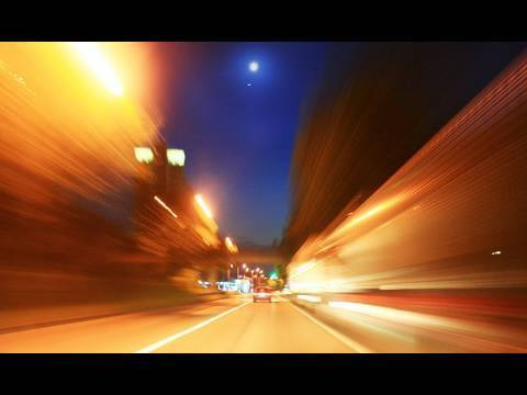 Highspeed Drivelapse HD Time-Lapse Video Stock Footage 1080p Full HD Zeitraffer Fahrt in die Nacht