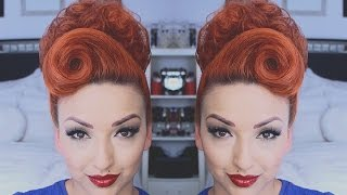 getlinkyoutube.com-PERFECT PINUP HAIR TUTORIAL