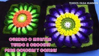 getlinkyoutube.com-Muestra a cuadro N° 27 PARTE 1 tejido a crochet para colchas y cubrecamas