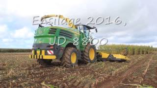 getlinkyoutube.com-Ensilage de maïs 2016, JD 8800 12 rangs