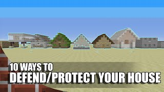 getlinkyoutube.com-10 Ways To Defend/Protect Your House In Minecraft!