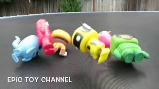 getlinkyoutube.com-YO GABBA GABBA Pop Characters on GIANT TRAMPOLINE Getting Sillies Out with Brobee, Foofa, Plex