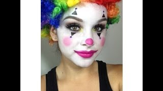 getlinkyoutube.com-Clown Makeup Tutorial (Halloween)