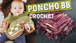getlinkyoutube.com-Poncho Para BeBe - Tejidos a Crochet - Dos Agujas