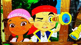 getlinkyoutube.com-Disney JAKE Never Land Pirates Puzzle Game Rompecabezas De Jake Play Kids Learning Toys JR Games