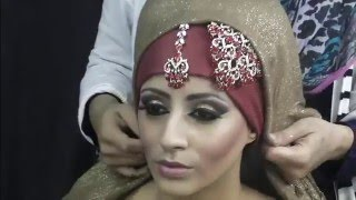 getlinkyoutube.com-Asian Bridal Makeup Hijab Tutorial By Farzana Ahmed