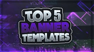 TOP 5 FREE YouTube Banner Templates #1 | FREE DOWNLOAD (2016)