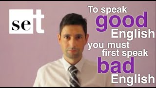 Don't be scared of speaking bad English (learn English ESL)