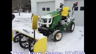 "getlinkyoutube.com-Snowblowing made easy with John Deere 1025r 54"" attachment"