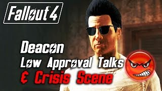 getlinkyoutube.com-Fallout 4 - Deacon - All Low Approval Talks & Crisis Scene (Deacon Leaves Forever)