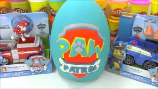 getlinkyoutube.com-Huge Paw Patrol Giant Play Doh Surprise Egg Toy Opening Episode
