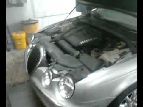 Jaguar engine making knocking noise and smoking.