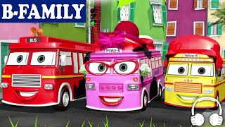 getlinkyoutube.com-[B-FAMILY] Wheels on the Bus and More Songs | Muffin Songs