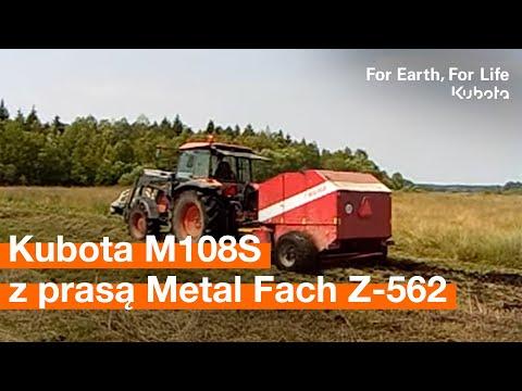 Kubota M108S i prasa Metal Fach Z-562