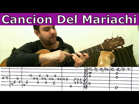 Guitar Tutorial: Cancion Del Mariachi - Fingerstyle (w/ TAB)