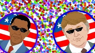 getlinkyoutube.com-AGAR.IO OBAMA VS. TRUMP - ULTIMATE BATTLE