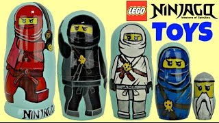 Cartoon Network NINJAGO Stacking Cups, Nesting Dolls, Kai, Cole, Zane, Lego Toy Surprises / TUYC