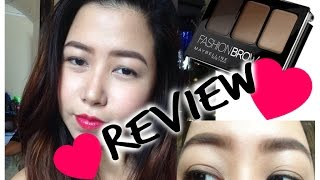 getlinkyoutube.com-Maybelline Fashion Brow 3D Brow and Nose Palette REVIEW | Ciel Tamray