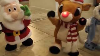 getlinkyoutube.com-Gemmy Animated Christmas Plush 2015 Collection