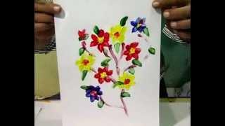 getlinkyoutube.com-finger painting (teknik mencolek satu jari - bunga)