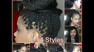 getlinkyoutube.com-How To Style Your Senegalese Twists, Box Braids, Locks ✿ 14 Quick Easy Hairstyles ✿ Kimmy Boutiki