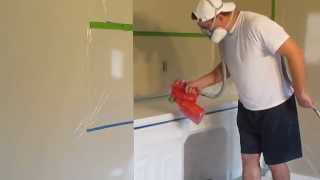 getlinkyoutube.com-Spray Painting Cabinets (2 of 2) - Graco HVLP 9.5 Edge Spray Paint Gun