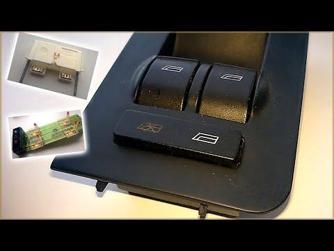 Ремонт кнопки блокировки задних стеклоподъемников Ауди А6 С5
