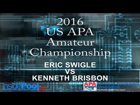 2016 U S  APA Amateur Championship Eric Swigle vs Kenneth Brisbon