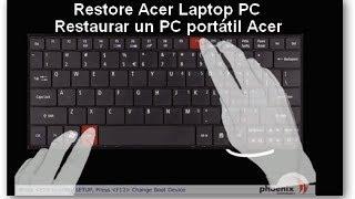 getlinkyoutube.com-Restaurar un PC portátil ACER ASPIRE 5741 de Fabrica | Acer aspire 5741 recovery partition work