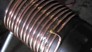 getlinkyoutube.com-Gas Bottle Wood Stove Heat Exchanger