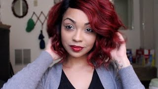 getlinkyoutube.com-BOMB RED HAIR!!! ISISHAIR.COM - BS206 WIG