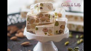 getlinkyoutube.com-Nougat حلوى النوغة البيضاء