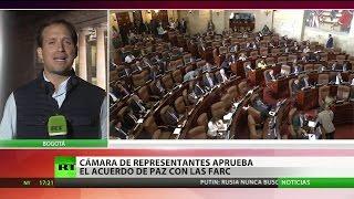La Cámara de Representantes de Colombia aprueba el nuevo acuerdo de paz con las FARC