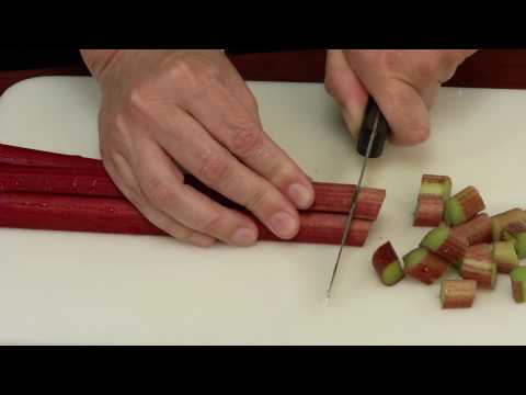 Food Preservation Demonstration: Freezing Rhubarb