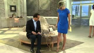 getlinkyoutube.com-Marc Fisher Jeweled Thong Sandals w/ Backstrap - Rady II with Shawn Killinger