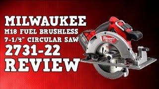 "getlinkyoutube.com-Milwaukee 2731-22 CCS66 M18 Fuel Brushless 7-1/4"" circular saw Review"