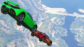 getlinkyoutube.com-MID AIR CAR BATTLES! (GTA 5 Funny Moments)