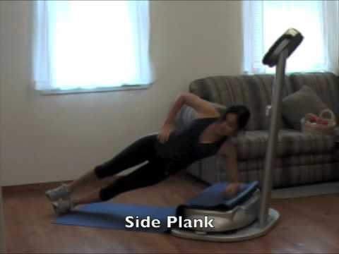 10 Minute Ab / Core Workout on the Noberex K1 Whole Body Vibration Machine