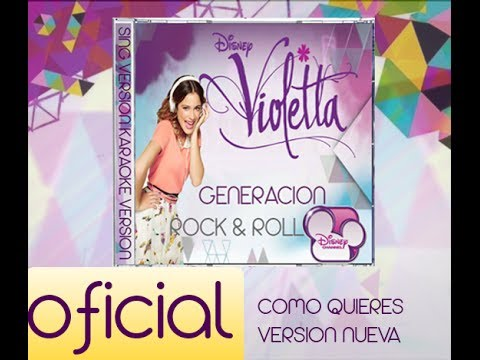 Como quieres [Violetta,Francesca y Camila] CD Fan