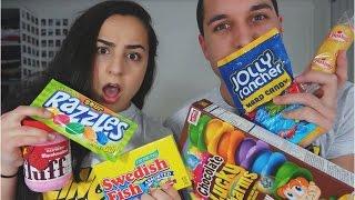 getlinkyoutube.com-Australian Tries American Candy | Tayla-Grace