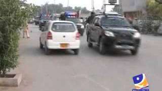 getlinkyoutube.com-Faryal  Talpur Motorcade Yeh Batain Jhooti Batain Hain.mp4