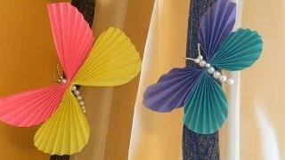 getlinkyoutube.com-Бабочки своими руками / Поделки из бумаги и бисера